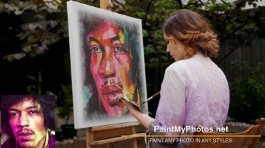 Paint Portrait in Francoise Nielly Style