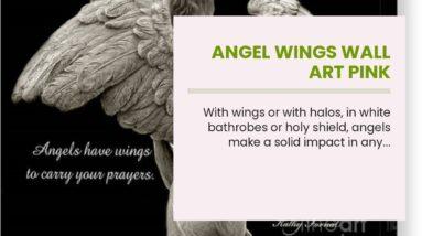 Angel Wings Wall Art Pink