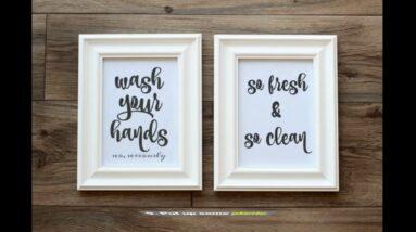 Bathroom Art Text