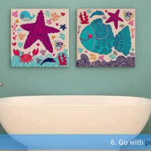 Bathroom Wall Art Modern