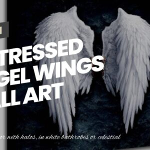 Distressed Angel Wings Wall Art