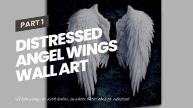 Distressed Angel Wings Wall Art