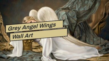 Grey Angel Wings Wall Art