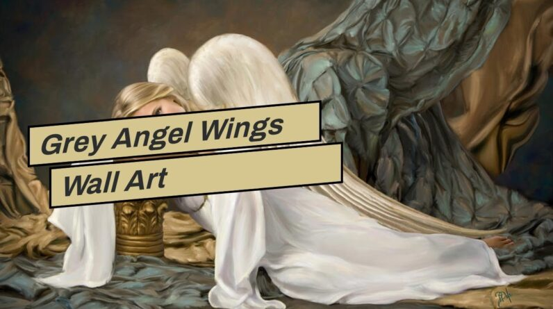 Grey Angel Wings Wall Art